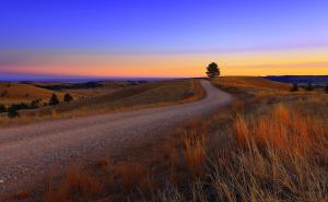 South Dakota Beautiful Dirt Road